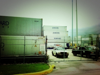 The cargo side of the Port of Miami
