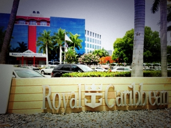 Head office of Royal Caribbean cruise lines at the Port of Miami